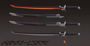 Sci Fi Katana Weapon Auction (closed)