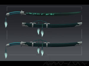 Ghostly Dao Sword Commission