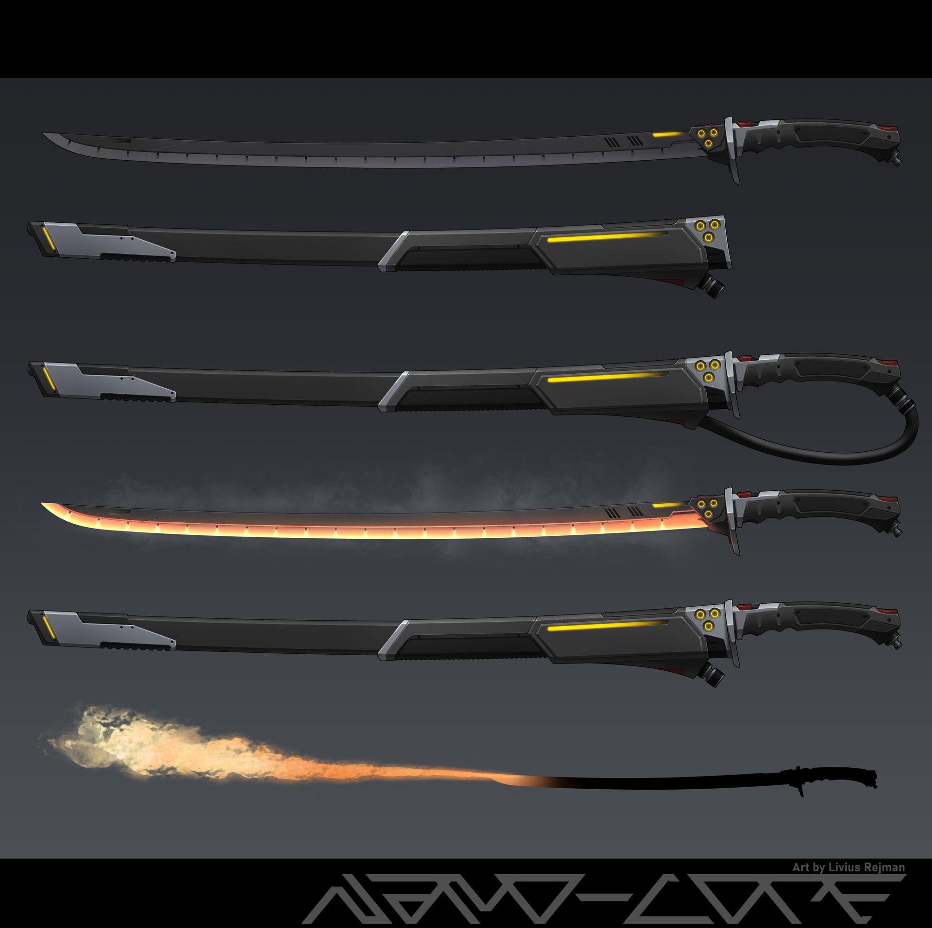Sci Fi Fire Katana