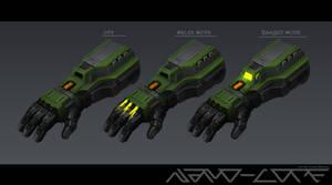 Sci Fi Plasma Gauntlet