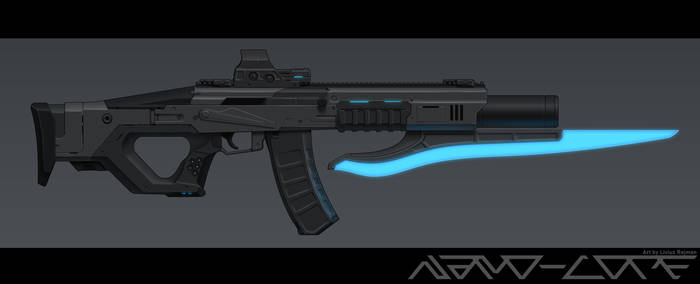 Sci Fi Kalashnikov with Bayonet