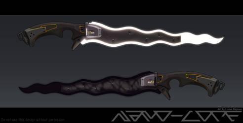 Sci Fi Light and Shadow Kris Daggers