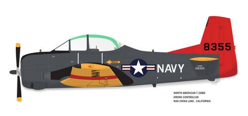 USN T-28BD- NAS CHINA LAKE