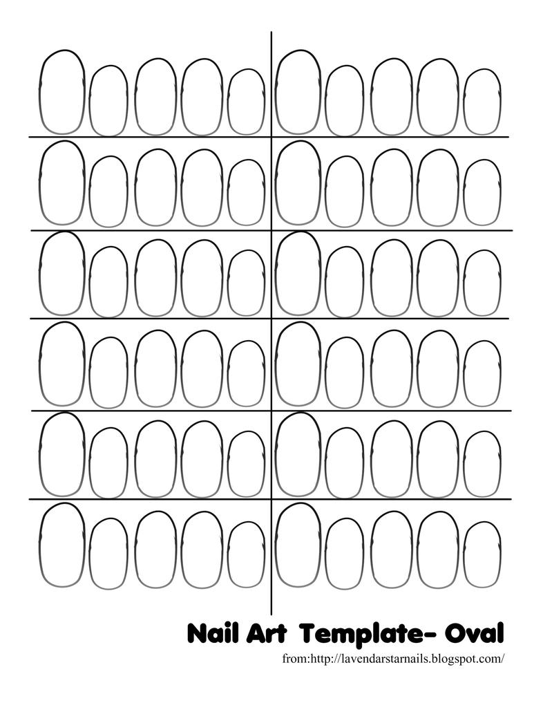 Nail Art Template Oval by Dgamm562 on DeviantArt