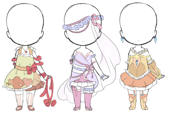 Magical Girl Outfit Adopts Closed By Bunniiadopts On