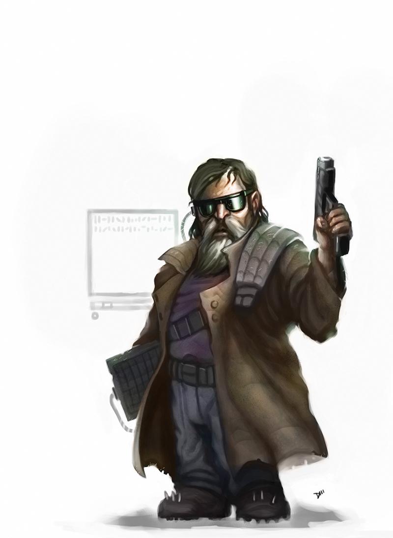 Shadowrunners Dwarf_decker_by_dustinwalkerart-d4ukf0f