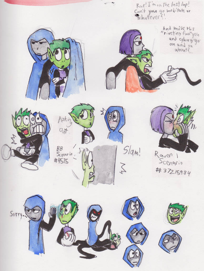 Beast Boy and Raven Interactions by warahi