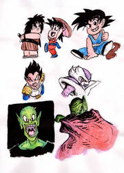 Dragon Ball Scribbles by warahi