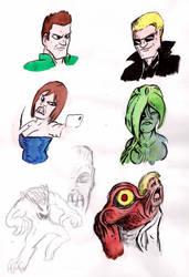 Resident Evil Faces And Monstahs by warahi
