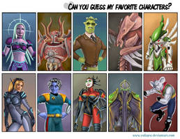 Guess My Favorite Characters
