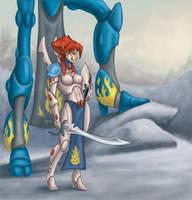 Lord MegasXLR and Kiva Banshee by YuliaPW