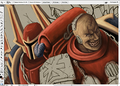 Blood and skull WIP1 by YuliaPW