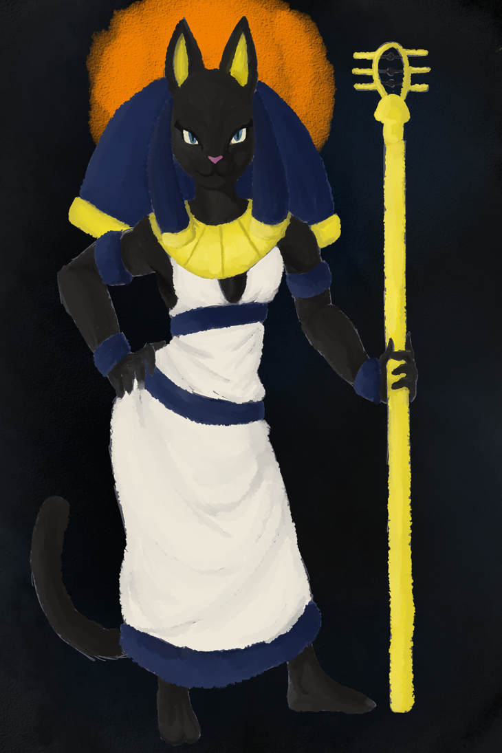 Ancient Egyption Goddess Bastet by Thea0605