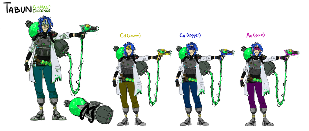 Overwatch Oc Character Design + Recolor Skins by Thea0605