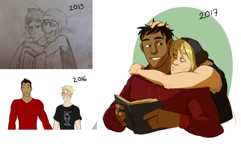 Redraw of old stuff by Thea0605