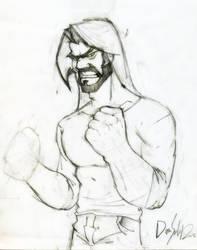fighter with beard !! by diyaa2013
