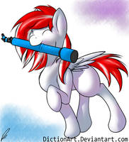 Look at That Little Colt and His New Telescope