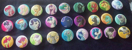 Bronycon 2015 Buttons by DictionArt
