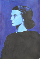 Blue Portrait by AiAkitaAnima