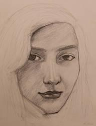 Self Portrait Sketch by AiAkitaAnima