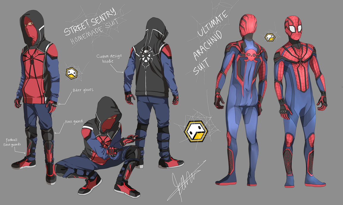 spiderman concept design 01 by ducklordethan on deviantart