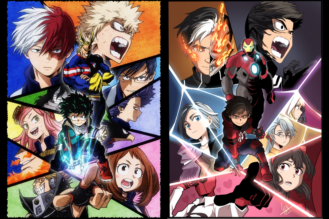 Image result for my hero academia vs marvel