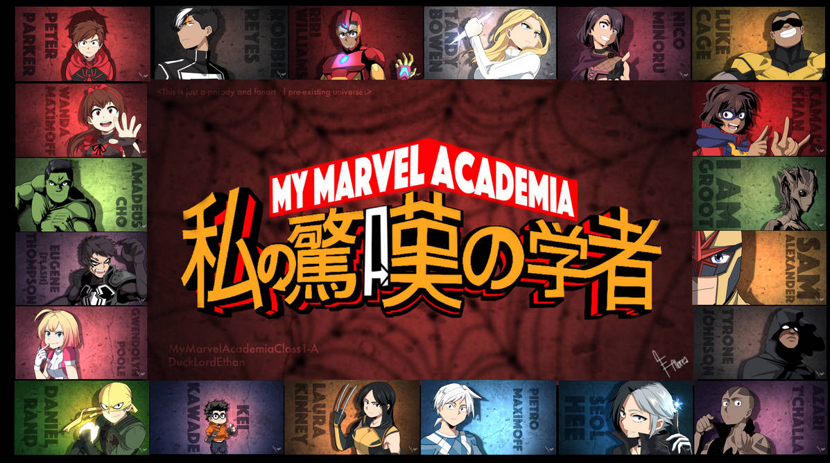 MyMarvelAcademiaClass1-A by DuckLordEthan