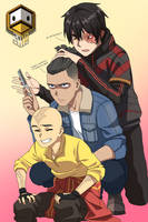 Aang, Sokka, and Zuko (Modern edition)