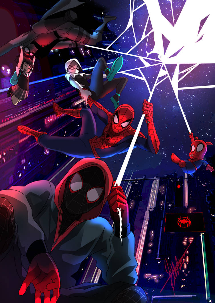 into the spiderverseducklordethan on deviantart