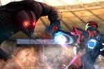 Iron Might versus Sentinel   My Marvel Academia