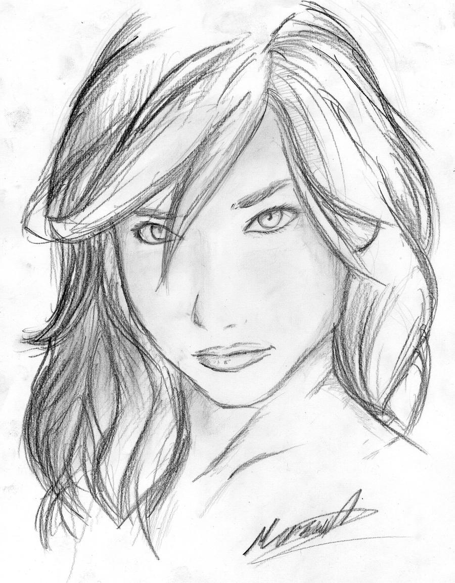 girl sketch by Jenova9...