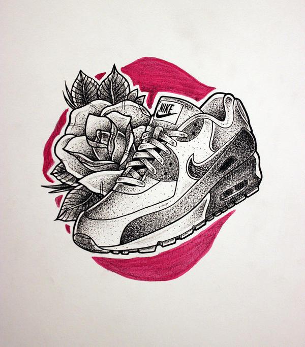 Nike Air Max tattoo sketch by KOREEE
