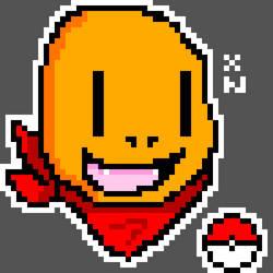 Charmander pixel art by Xenonitez