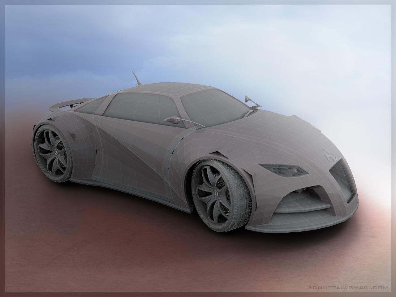 Concept Car - Vector by 3DnuTTa