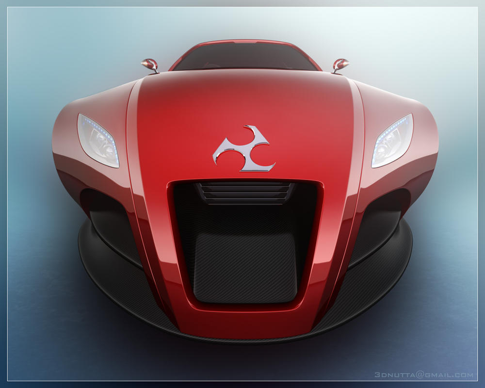 Concept Car - Wide Front by 3DnuTTa on DeviantArt