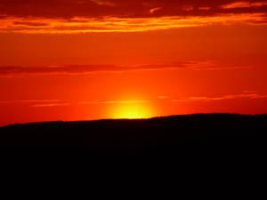 Sun behind Horizont