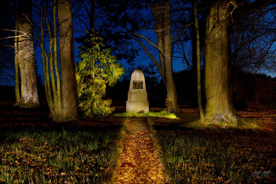Memorial from First World War at Night by PanMari
