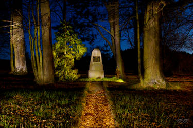 Memorial from First World War at Night