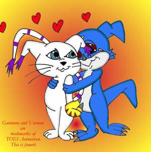 Veemon and Gatomon