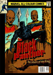 Black Panther Cover Retro 70's Version