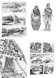 gel pen sketches