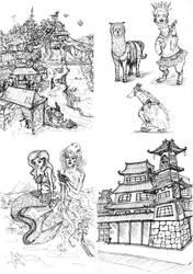gel pen sketchbook 2