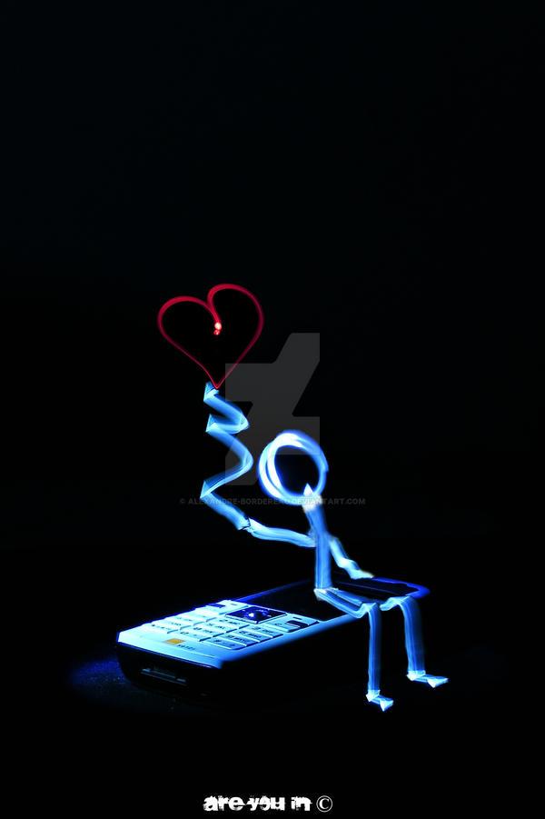 Valentine's D - Lightpainting by Alexandre-Bordereau