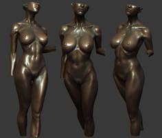 female statue wip