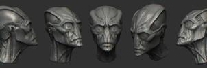 Alien 3d concept by mojette