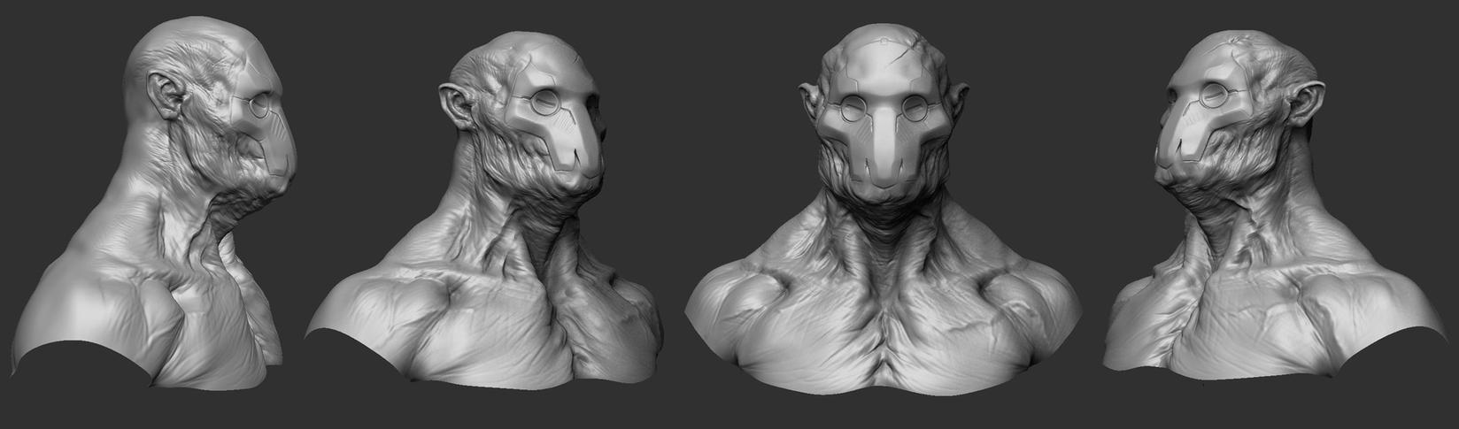 concept Sculpt 01 by mojette