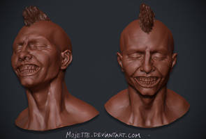 Punk zbrush sketch by mojette
