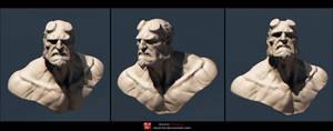 Hellboy bust render