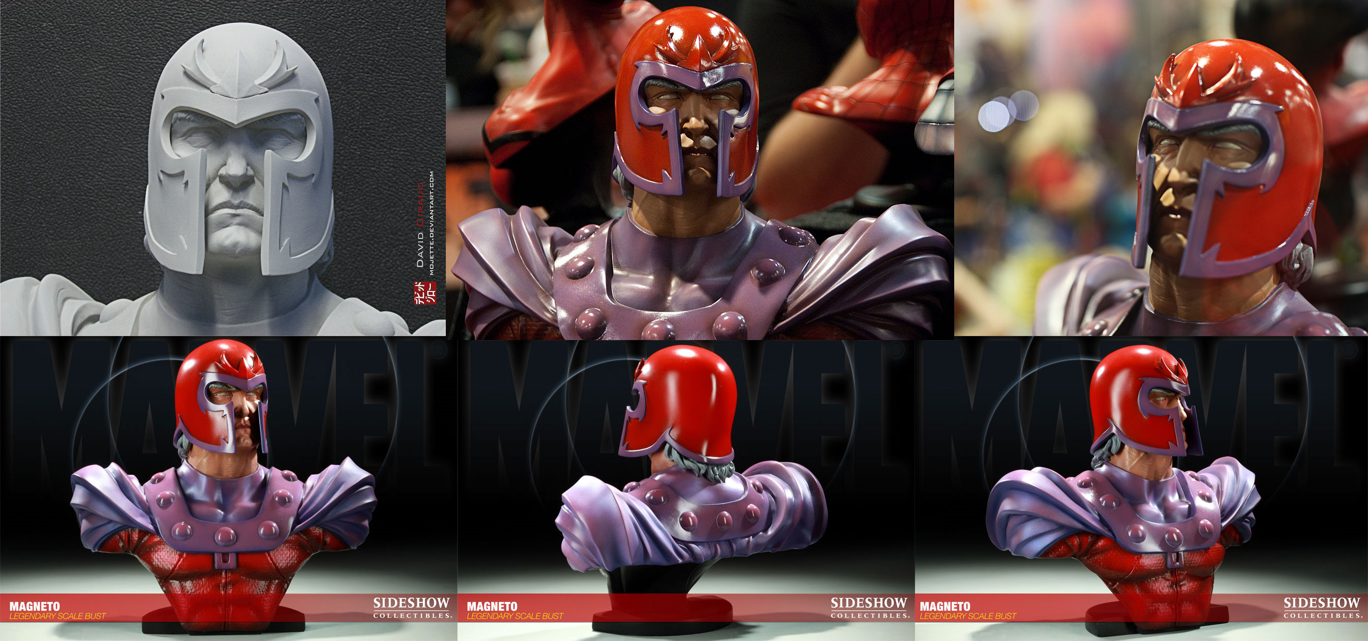 Magneto legendary scale bust by mojette