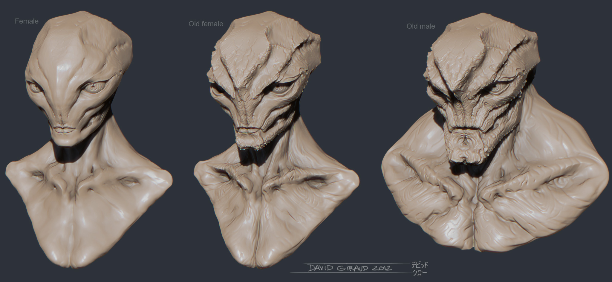 Alien genders by mojette